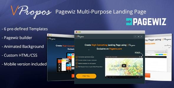vPropos - Pagewiz Multi-Purpose Landing Page - Pagewiz Marketing