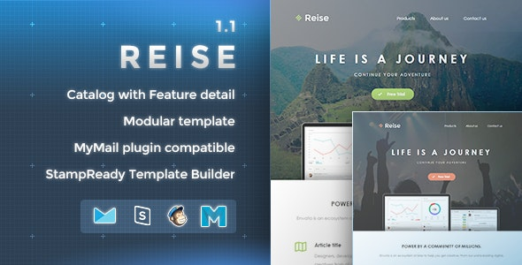 Reise - Responsive Email Template  - Newsletters Email Templates