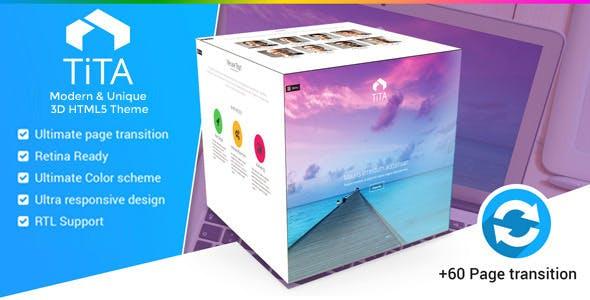 Tita 3D - Modern & Unique HTML5 Theme