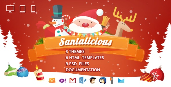 Santalicious - Responsive Email Template - Email Templates Marketing