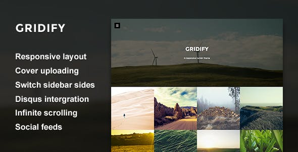 Gridify - Fullsceen Grid Theme by thejenyuan