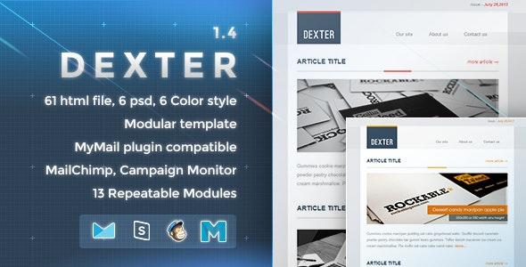 Dexter - Responsive E-mail Template - Newsletters Email Templates