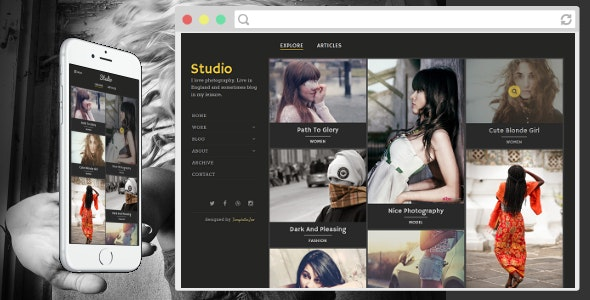 Studio - Photography Blogger Template - Blogger Blogging