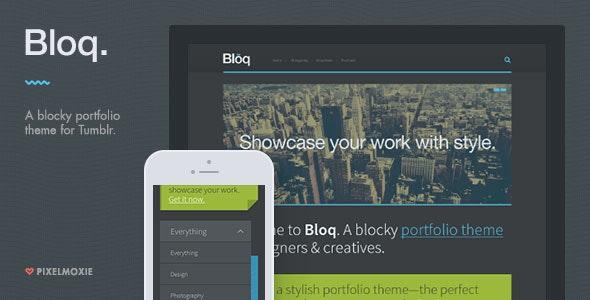 Bloq - A Blocky Portfolio Theme for Tumblr - Portfolio Tumblr