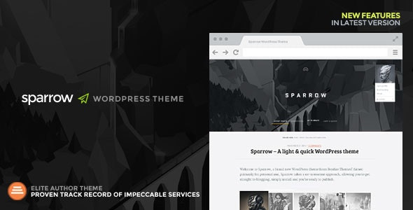 Sparrow: A Responsive WordPress Blog Theme - Personal Blog / Magazine