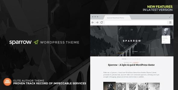Sparrow: A Responsive WordPress Blog Theme - Personal Blog / Magazine