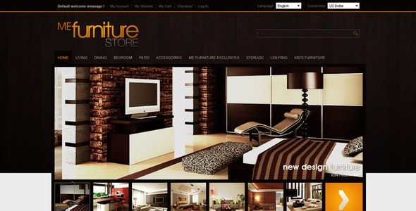 Furniture Store - Shopping Magento
