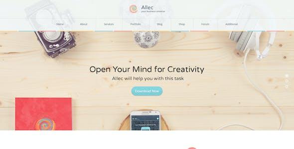 Allec - Business & Technology PSD Template
