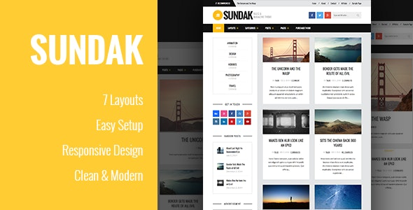 Sundak - Blog and Magazine Theme - Blog / Magazine WordPress