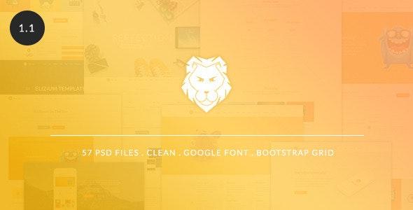 The Lion - Multi-Purpose PSD Template - Business Corporate