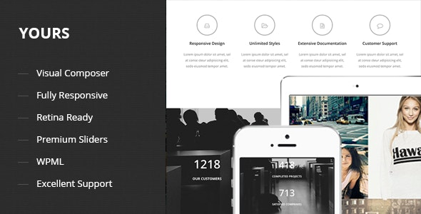 Yours - Responsive Onepage Wordpress Theme - Portfolio Creative