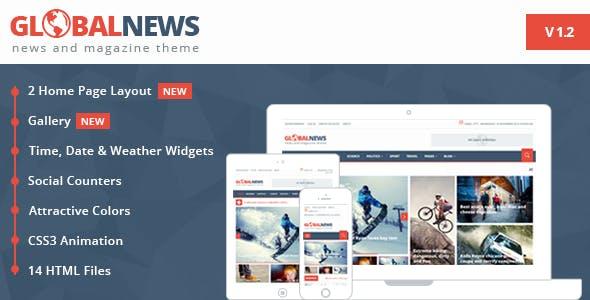 Globalnews - News & Magazine HTML5 Template