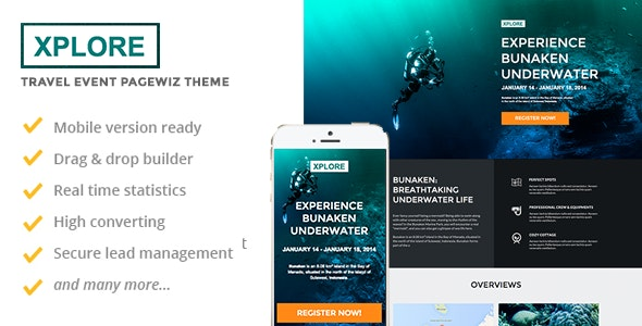 XPLORE - Travel & Event Pagewiz Theme - Pagewiz Marketing