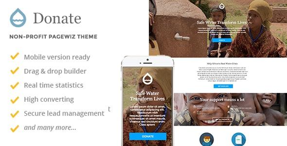 Donate - Non-profit Pagewiz Theme - Pagewiz Marketing