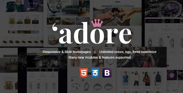 Adore | Luxury Store Responsive Magento Theme - Fashion Magento