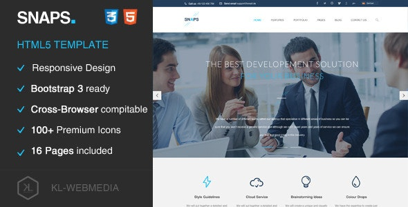 Snaps - Creative HTML5 Template - Creative Site Templates