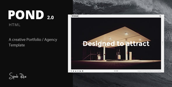Pond - Creative Portfolio / Agency Template - Portfolio Creative