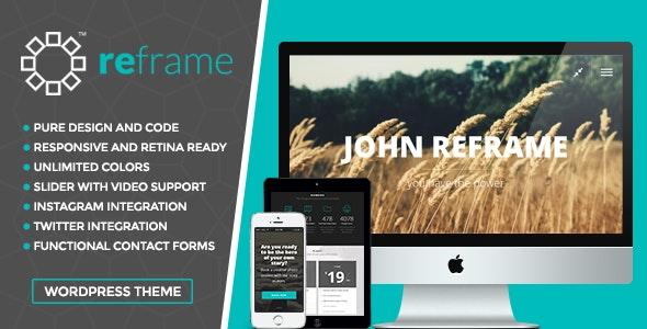 ReFrame - Responsive Photography WordPress Theme - Photography Creative