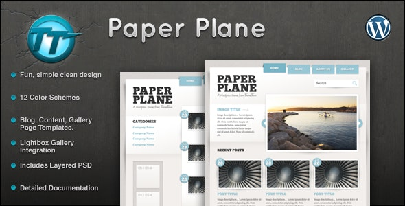 Paper Plane Wordpress Theme - Blog / Magazine WordPress