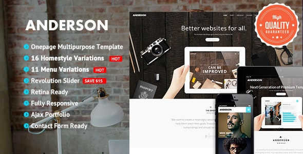 Anderson - Onepage Multipurpose Template - Creative Site Templates