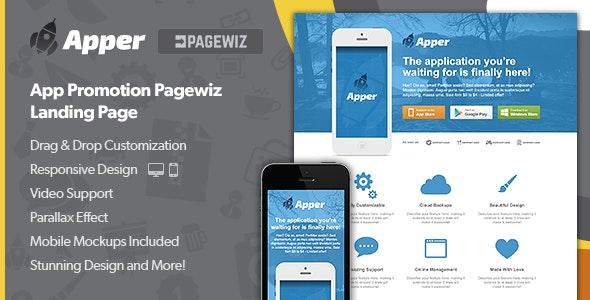 Apper - App Promotion Pagewiz Landing Page - Pagewiz Marketing