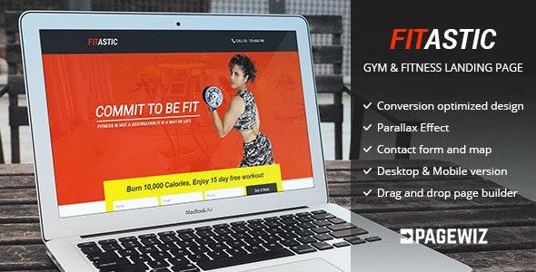 fitastic - Pagewiz Gym & Fitness Landing Page - Pagewiz Marketing