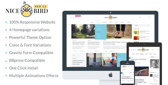 Magazine / Newspaper / News / Blog WordPress Theme - NiceBird - Blog / Magazine WordPress