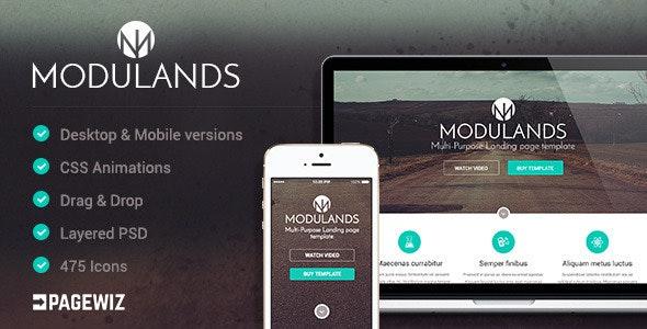 Modulands   Multi-Purpose Pagewiz Landing Page Template - Pagewiz Marketing