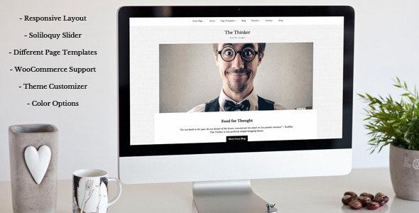 The Thinker - Simple Blogging WordPress Theme - Personal Blog / Magazine