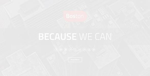 Boston - Corporate Parallax WordPress Theme