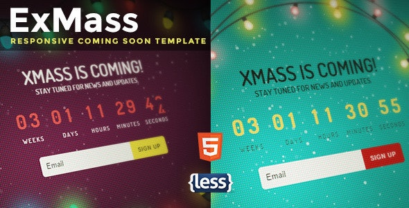 ExMass - Responsive Holiday Coming Soon - Under Construction Specialty Pages