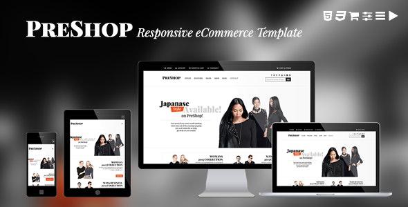 PreShop - Responsive E-Commerce Website Template - Fashion Retail