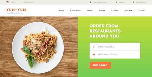 Yum-Yum | Restaurant PSD Template