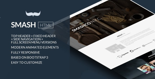 Smash - Responsive Bold Multipage/Onepage Template - Business Corporate