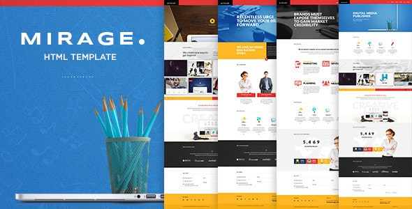 Mirage - Multipages HTML Template - Portfolio Creative