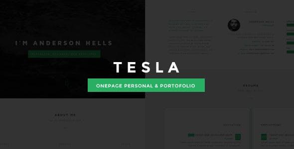 Tesla Onepage Personal/Portofolio