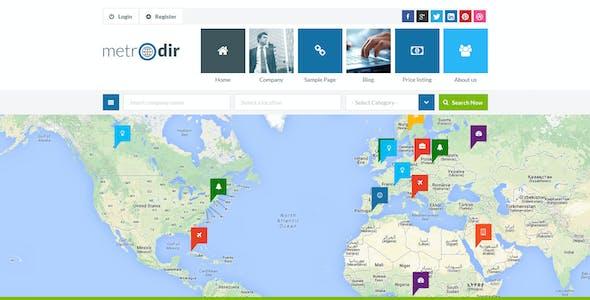 Metrodir - Directory & Listings HTML Template