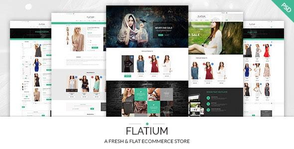 Flatium - Flat & Fresh PSD Ecommerce Set - Fashion Retail