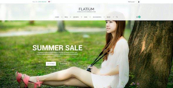Flatium - Flat & Fresh PSD Ecommerce Set
