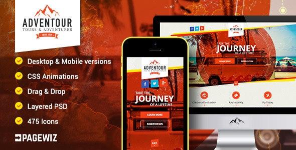 Adventour - Pagewiz Travel Landing Page - Pagewiz Marketing