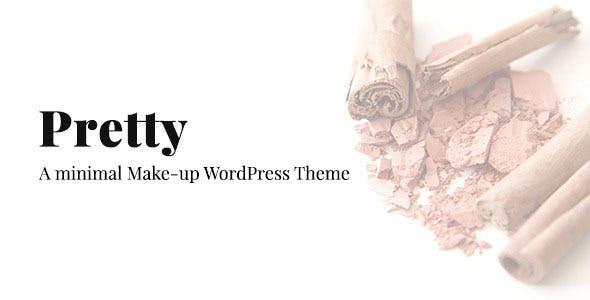 Pretty - Minimal Makeup Responsive Wordpress Theme