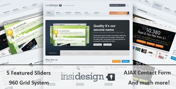 Insidesign HTML Template - Creative Site Templates