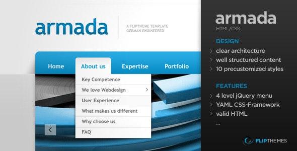 Armada - A flexible Flagship HTML Template - Corporate Site Templates