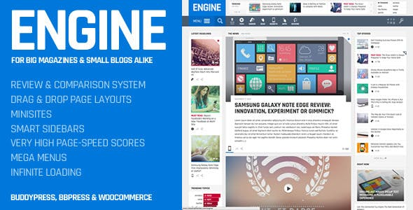 Engine - Drag and Drop News Magazine w/ Minisites