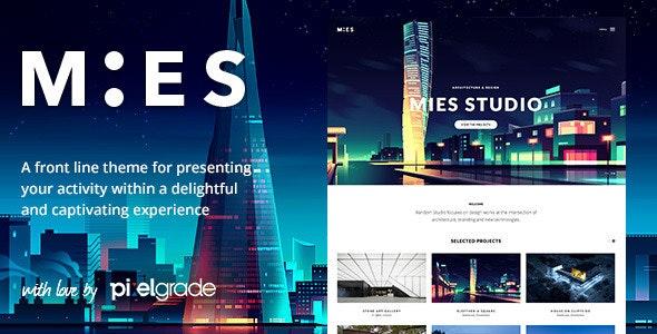 MIES - An Avant-Garde Architecture WordPress Theme - Portfolio Creative