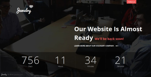 Jewelry - Coming Soon Template HTML5 - Under Construction Specialty Pages
