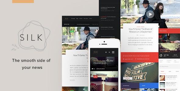 Silk - Creative News HTML Template - Creative Site Templates