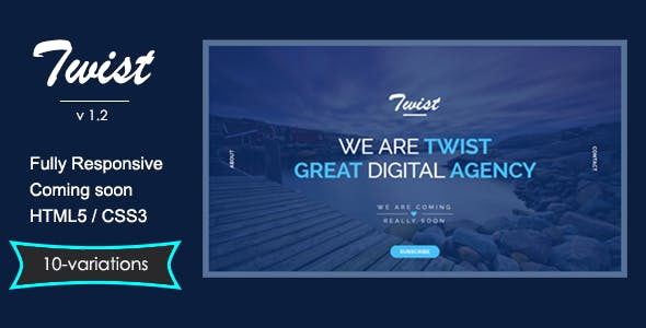 TWIST - Responsive Coming Soon Page