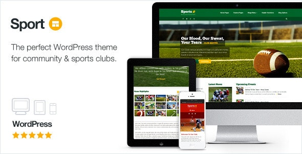 Sport - WordPress Club Theme - Nonprofit WordPress