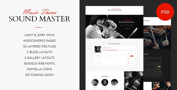 Sound Master | Music Band Template - Entertainment PSD Templates